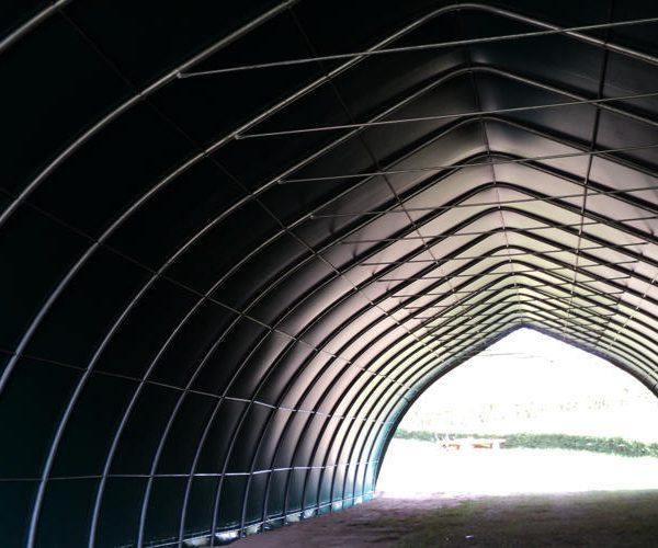 Tunnel de stockage agricole